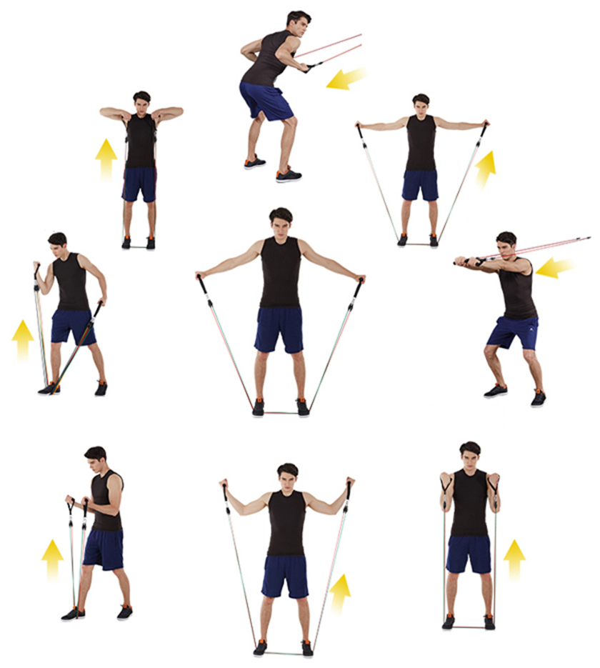 Một số bài tập với dây đàn hồi dành cho nam