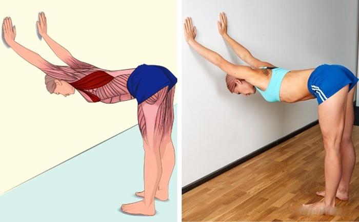 Khi dùng đai chống gù lưng, bạn cần sử dụng thêm bài tập kéo căng lưng sau mới có thể hiệu quả