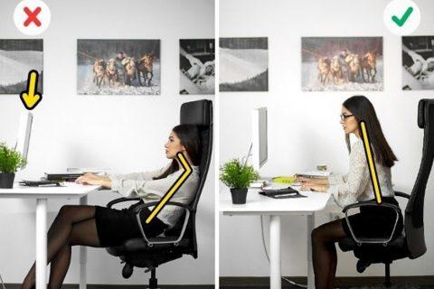 làm thế nào để chỉnh sửa tư thế khi làm việc
