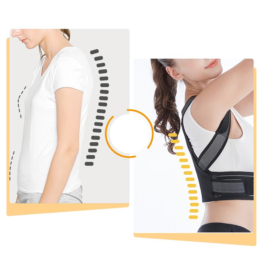 Đai chữa gù lưng như tên gọi, hỗ trợ cải thiện tư thế và giảm áp lực lên cổ, khớp, lưng trong các hoạt động thể chất.