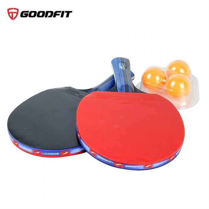 Bộ 2 vợt bóng bàn tặng kèm 3 bóng GoodFit GF001TS