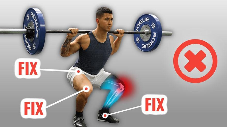 Có nên sử dụng băng đầu gối trong bài Squat khi tập Gym