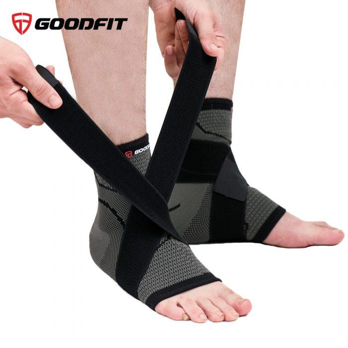 Băng bảo vệ cổ chân thể thao đàn hồi GoodFit GF614A