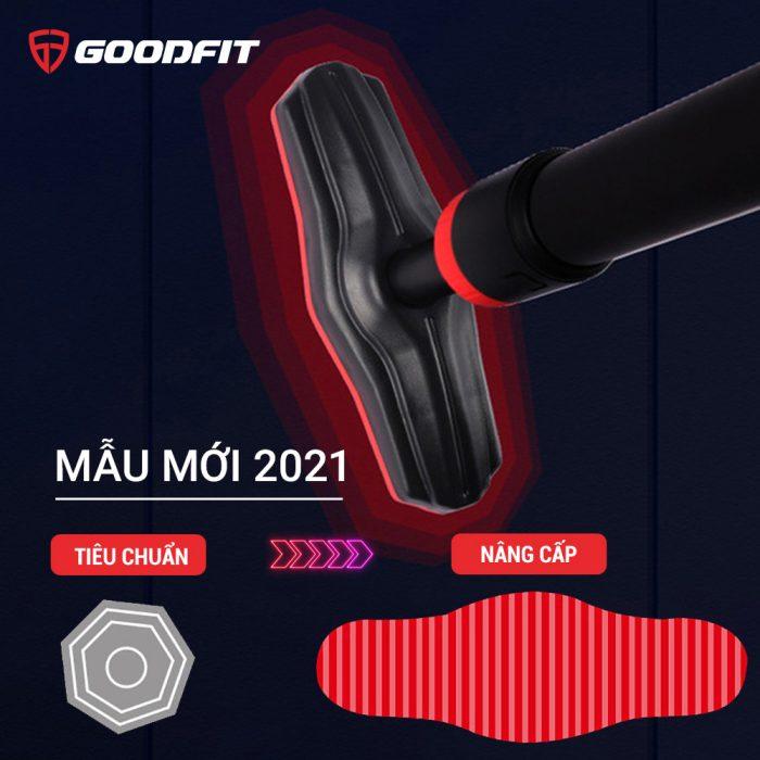 Xà đơn gắn cửa, treo tường thép chịu lực có thước thăng bằng GoodFit GF201PU (model 2021)