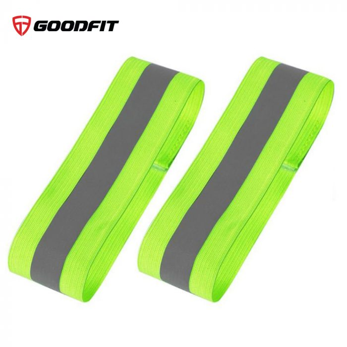 Đai phản quang chạy bộ, đạp xe đeo tay, chân GoodFit GF05RA