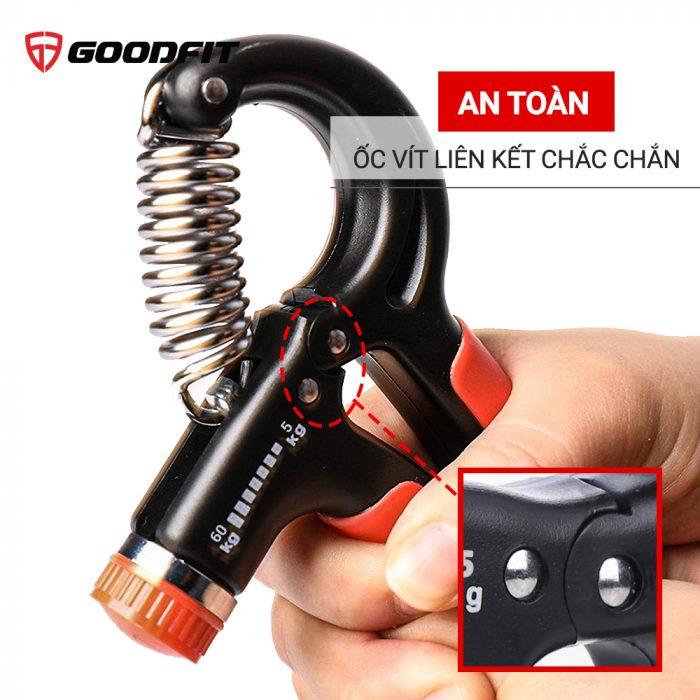Kìm bóp tập cơ tay GoodFit điều chỉnh lực 5-60kg GF01E