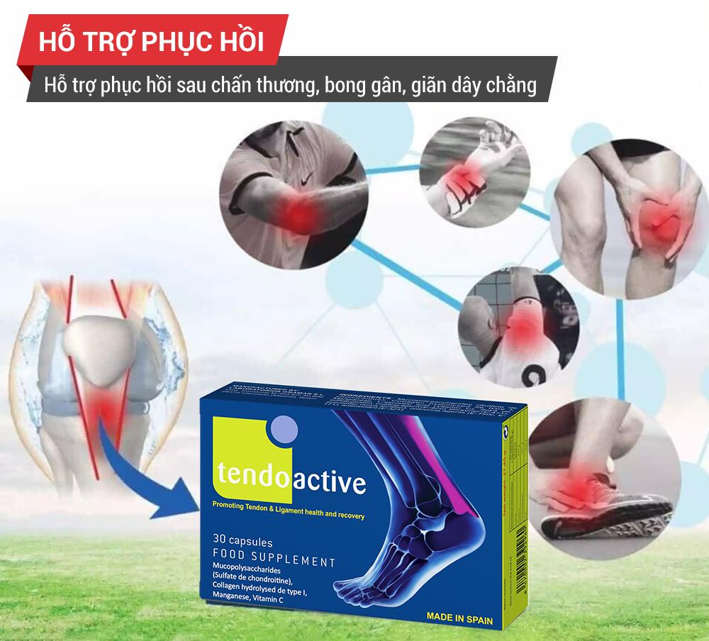 Viên uống tăng cường sức khỏe cho gân, dây chằng TendoActive
