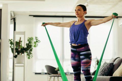 Bài tập với dây kháng lực mini khó nhất cho phần thân trên