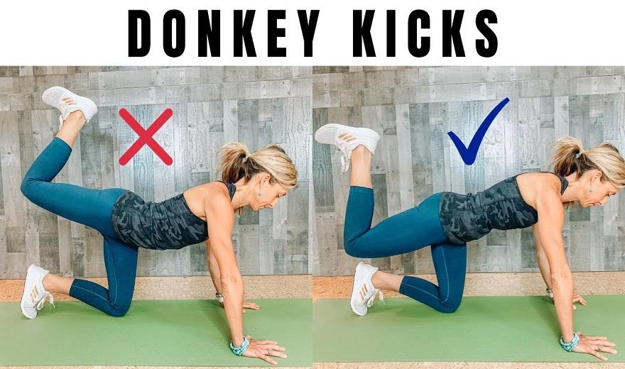 Bài tập đá lừa (Donkey kick) và những sai lầm thường gặp