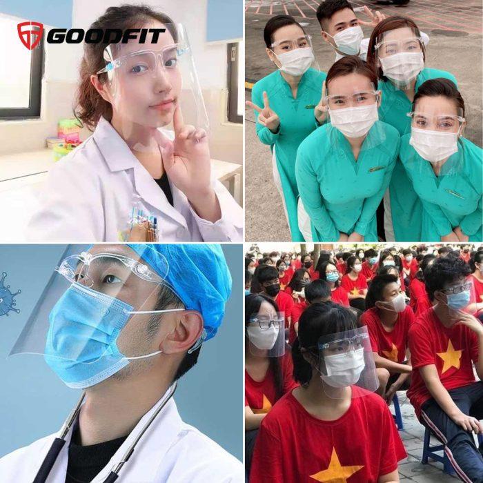 Tấm che y tế Face Shiel, chắn giọt bắn, virus, chống dịch