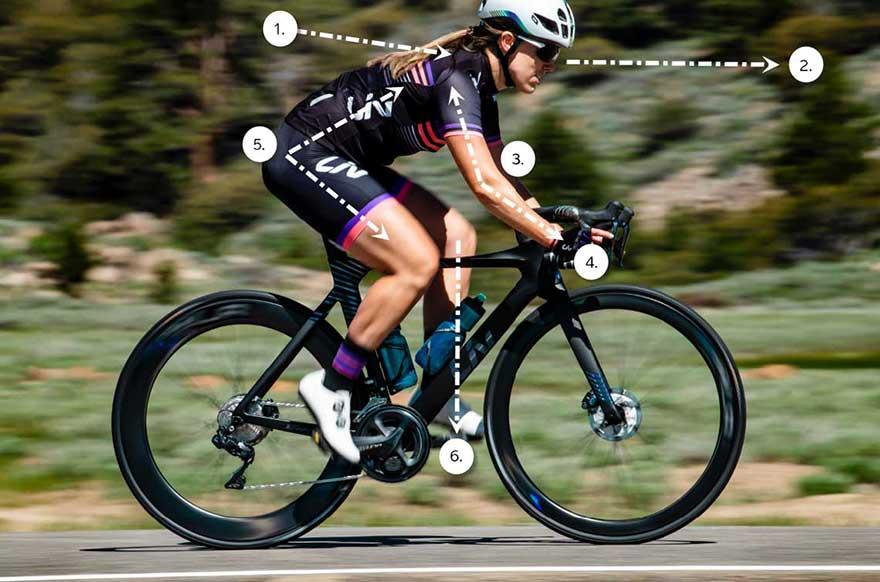 tư thế đạp xe đúng cách