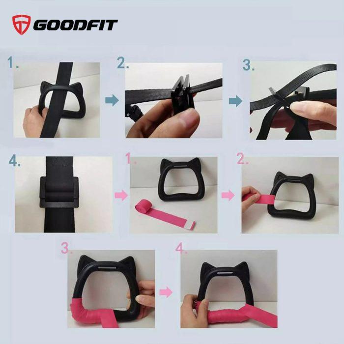 Bộ dây kháng lực hỗ trợ đu xà đơn cho trẻ em chính hãng GoodFit GF002E