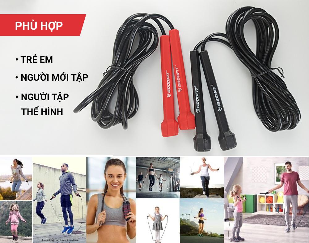 Dây nhảy thể dục, dây nhảy giảm cân chính hãng GoodFit GF902JR