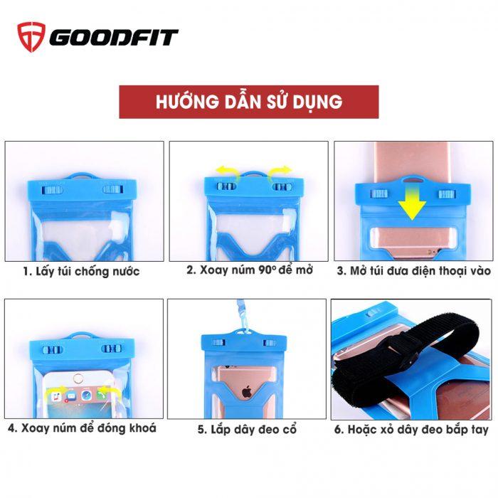 Túi chống nước điện thoại nhựa PVC cao cấp 2 dây đeo GF203WP